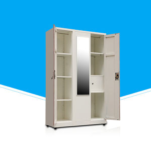 modular design steel furniture bedroom wardrobe with mirror