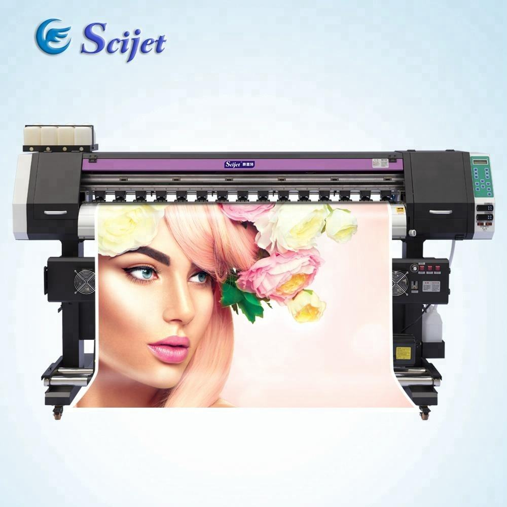Hot!!!1.8m Farmat price of flag/sticker printing machine with 2pcs DX5 print head SJ-1800X,1440dpi