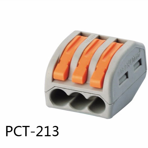Origin Factory Nut Lever Compact Splicing Terminal Block Wire Connector 2,3,4,5,8way Fast Connector Pct-213