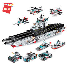 Qman  aircraft models war ship set armored vehicle deformation toy for boys toys 5 year old