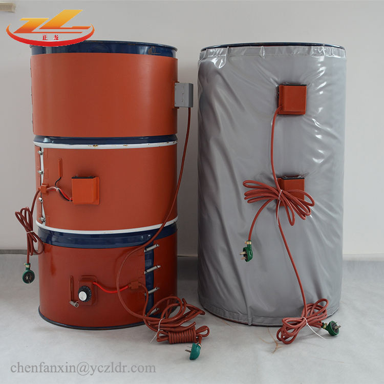 200 L 55 Gallon 220v 2000w Industrial Electric Silicone Oil Drum Band Heater
