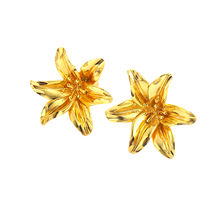 AE71202501 xuping flower stud brass gold plated earring jewelry+artificial flower jewelry+ear rings earrings jewelry
