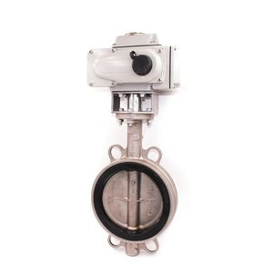 PTFE Acid Chemical Resistant Flow Control Electric Actuator Butterfly Valve