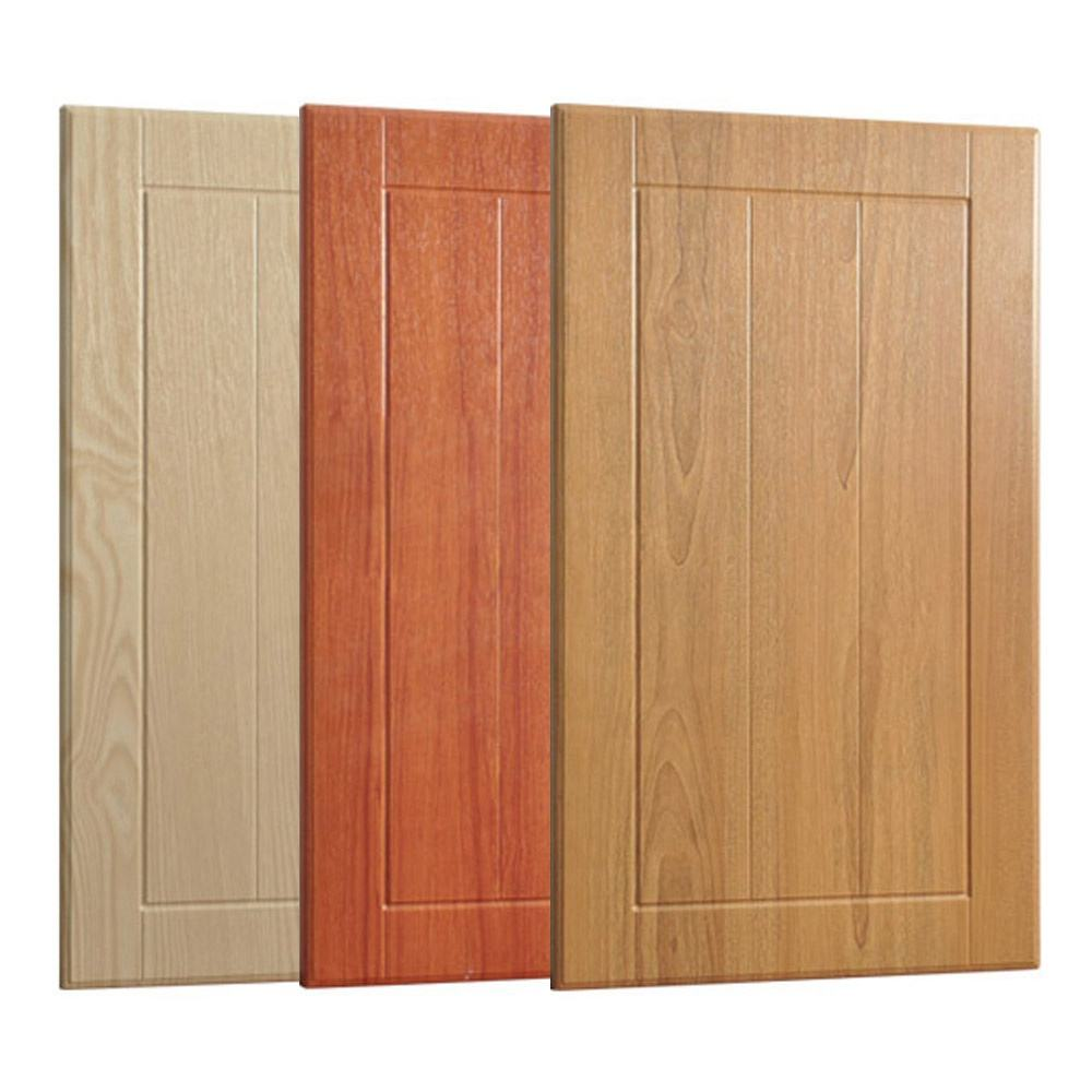 pvc pressed mdf curved kitchen cabinet doors