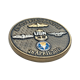 Wholesale custom logo usn gold silver navy military metal coin