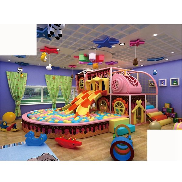 Playground indoor infantil para séries de doces