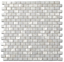 Natural White Mother Pearl Shell Rectangle Mosaic For Kitchen Backsplashes
