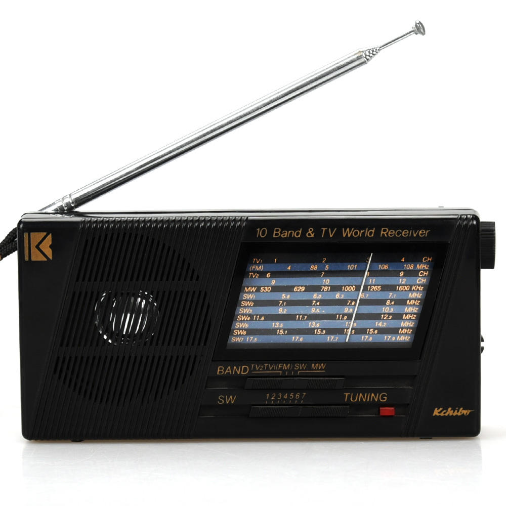 FM/TV/MW 10 Band Dunia Band Receiver Portable Kchibo Multiband Radio