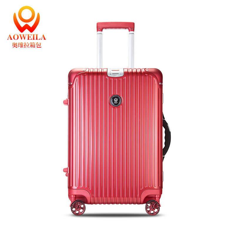キャリーに輪バッグスーツケースで大、暗赤色荷物