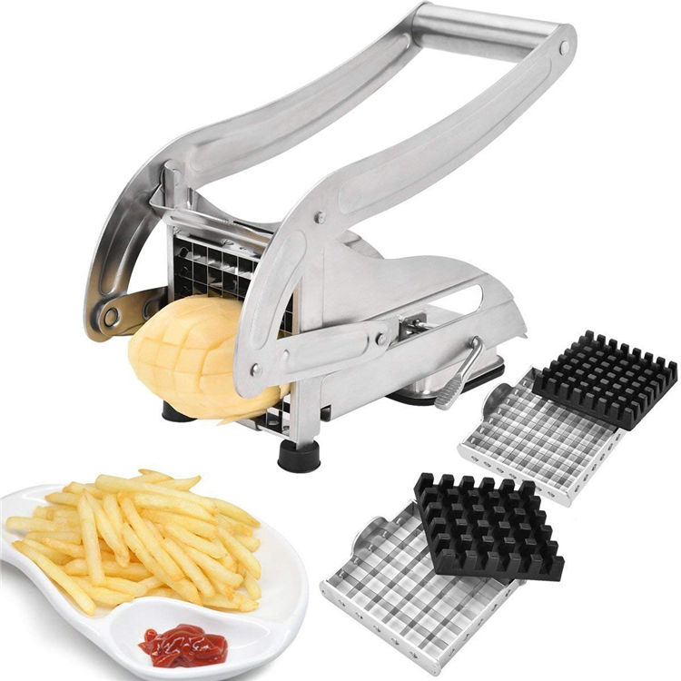 Coupe-Frites avec 2 Lames <span class=keywords><strong>En</strong></span> Acier Inoxydable Pomme <span class=keywords><strong>De</strong></span> <span class=keywords><strong>Terre</strong></span> Trancheuse Chopper Déchiqueteuse <span class=keywords><strong>De</strong></span> <span class=keywords><strong>Pommes</strong></span> <span class=keywords><strong>De</strong></span> <span class=keywords><strong>Terre</strong></span>