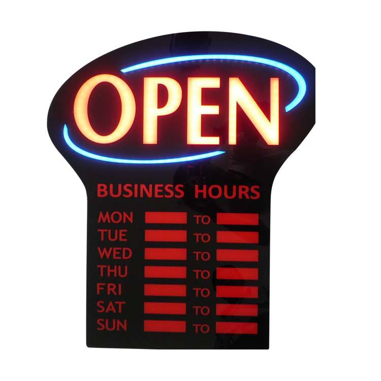 LED Open Bisnis Program Jam Tanda Waktu Bisnis Display LED Sign Open