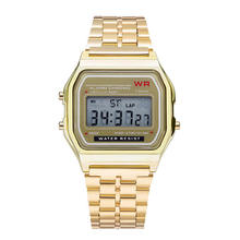 China Brand Watch Digital Led Display Metal Watch Waterproof Guangzhou Wrist Watch have logo