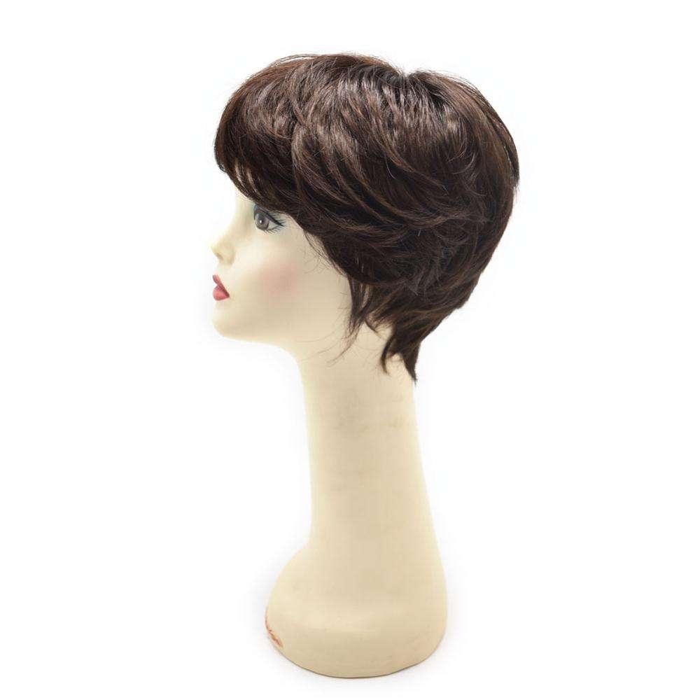 Superfeine Monofilament Haar Topper Stück Perücken, hohe Qualität geschweißt Lace Front synthetische Perücke für schwarze Frauen