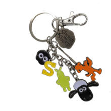 custom logo fancy metal handbag key ring key holder key chain charms