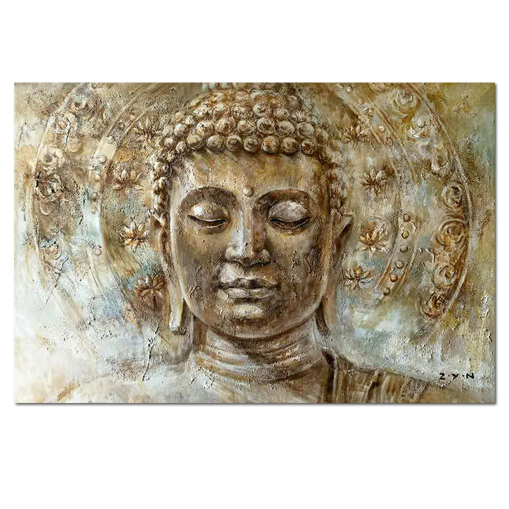 Custom wall art artist Hand-painted buddha oil painting on canvas
