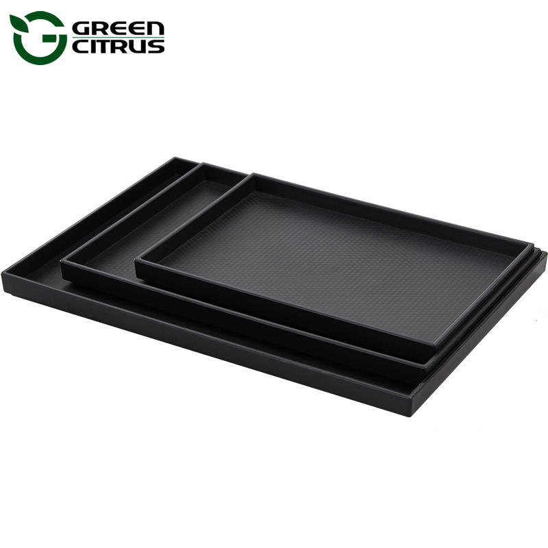 Good quality 100% Melamine Plastics Hotel Room Service Coffee Tea Tray for wholesale
