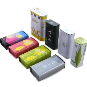 Cheap Small Rectangular Wholesale Food Candy Pocket Tin Can Package With Sliding Lid Mini Mint Tin Box