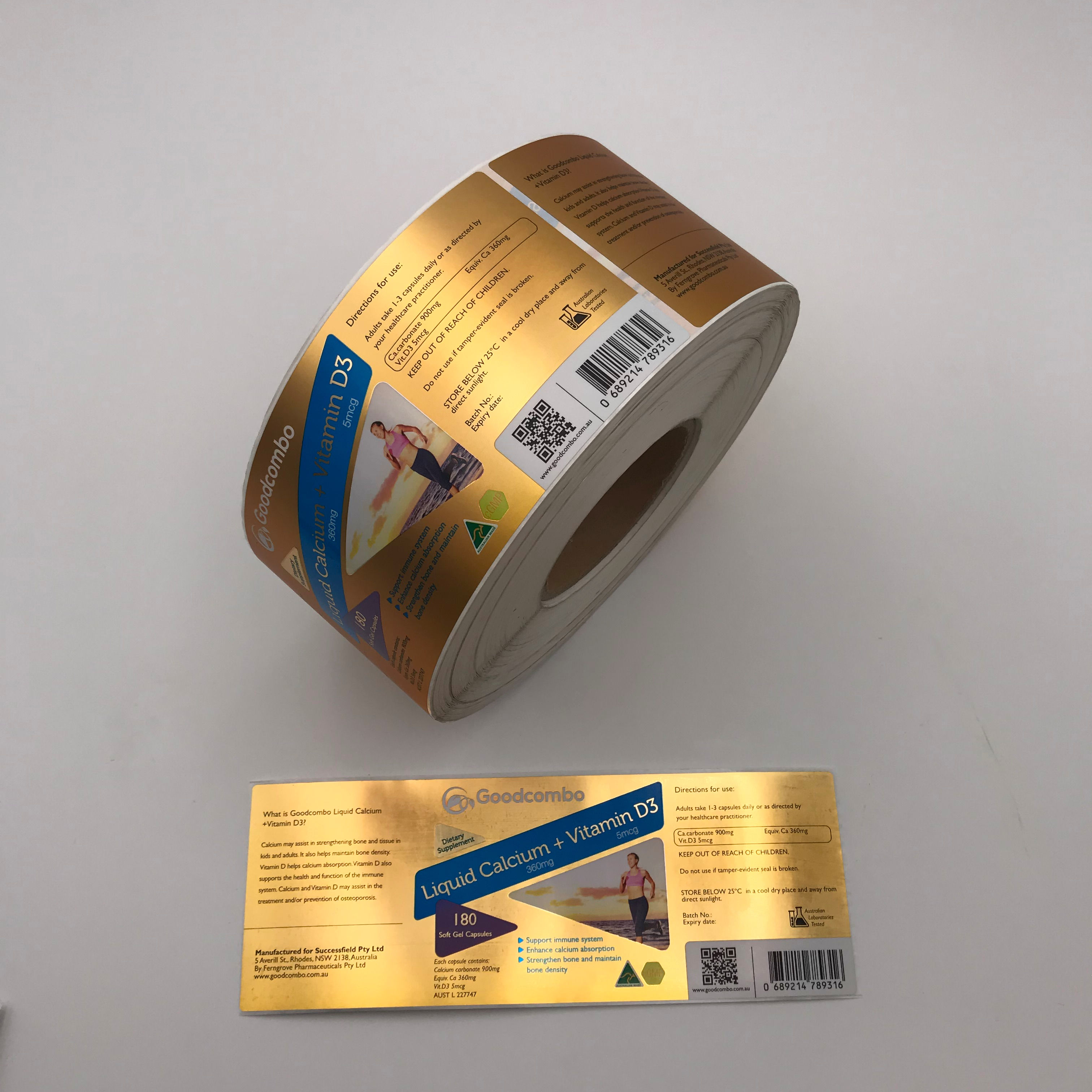 Manufacturers Custom Labels Printing Adhesive Vinyl Glossy Label Sticker Rolls