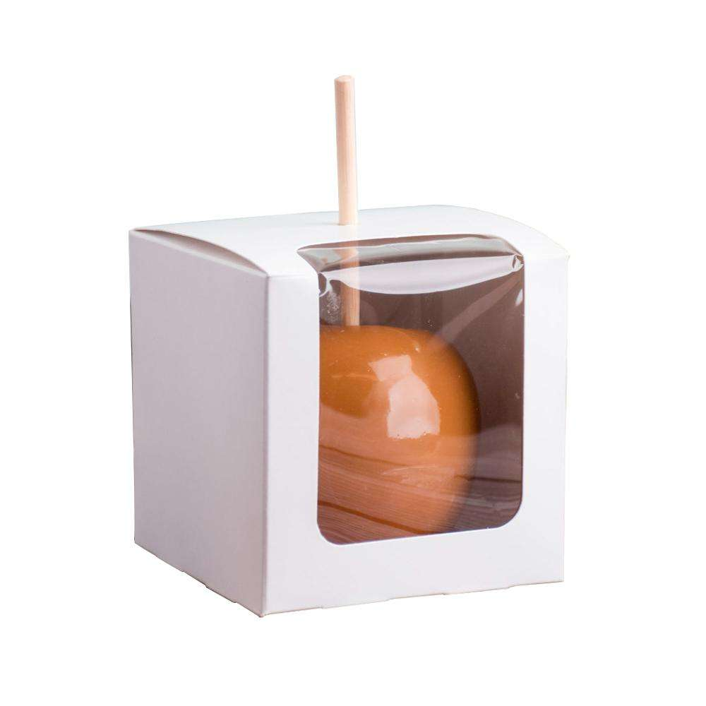 Custom candy apple packaging paper box with window