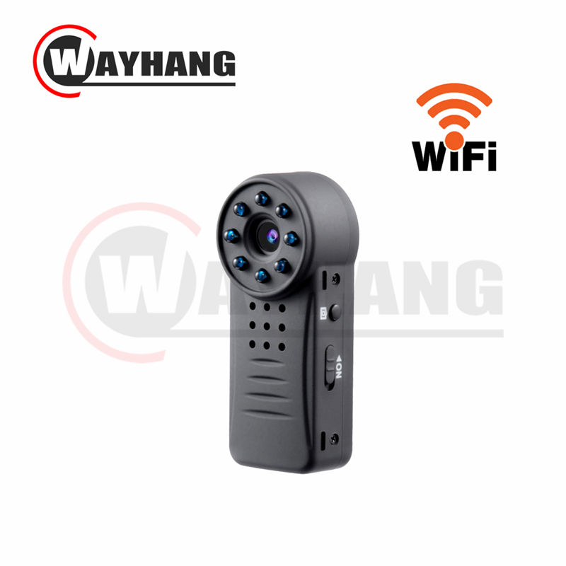 Mini Camcorder IP P2P Wifi Camera IR Night Vision 8 LED Light HD 1080P Cam Motion Detect Voice Control Video Recorder