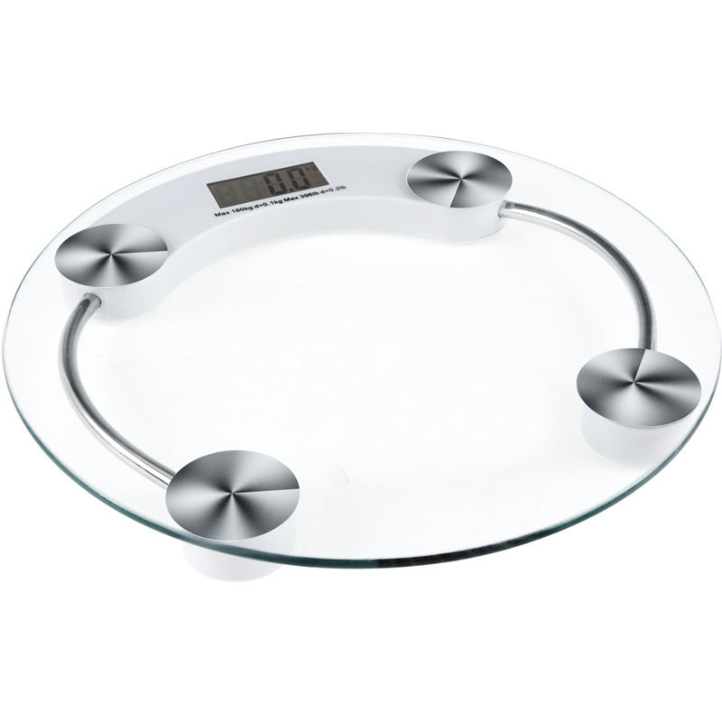 Pinxin Clear 180 Kg Body Weighing Scale Lcd Digital Bathroom Scale Round Glass Scale