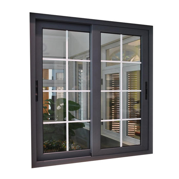 TOP WINDOW Aluminium Windows and Doors Sliding Window with Inside Grill