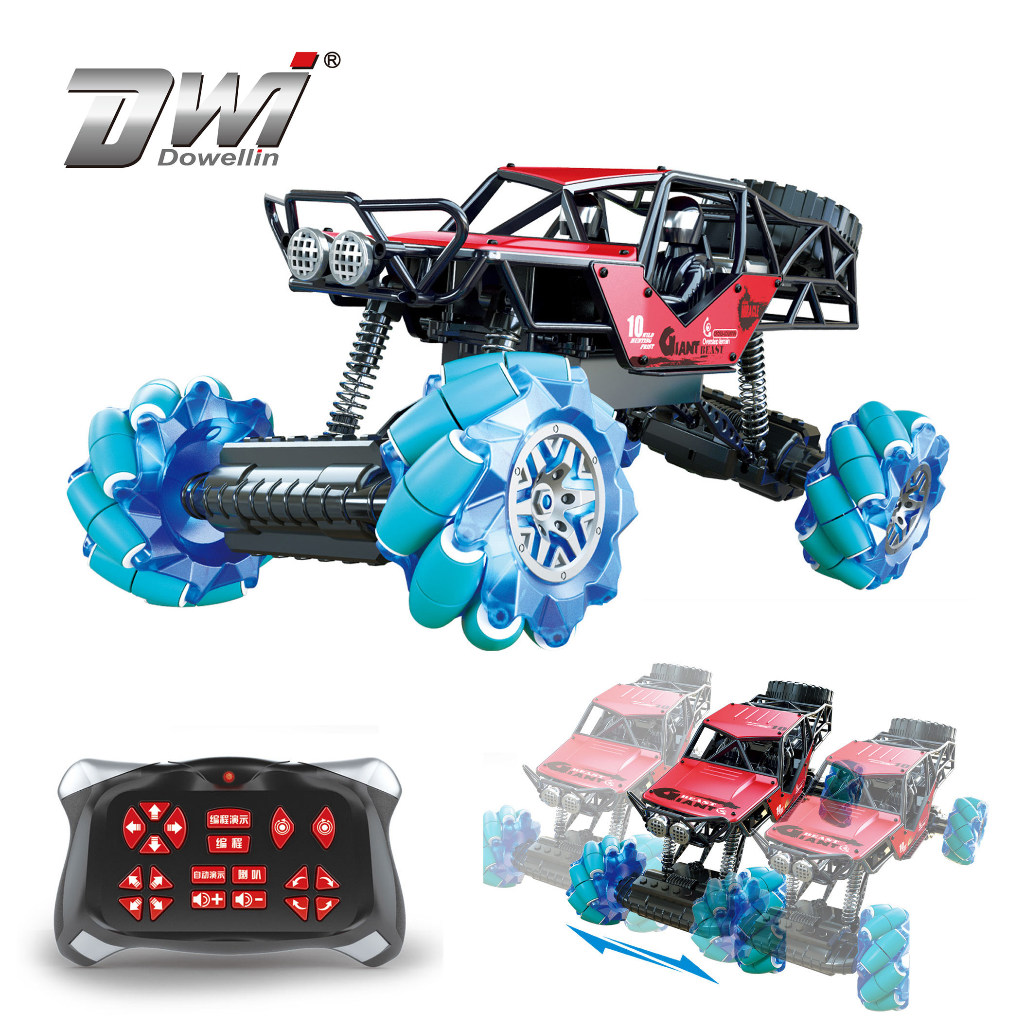 DWI New stunt car buggy toy side drift remote control car 4x4 with 360 rotation