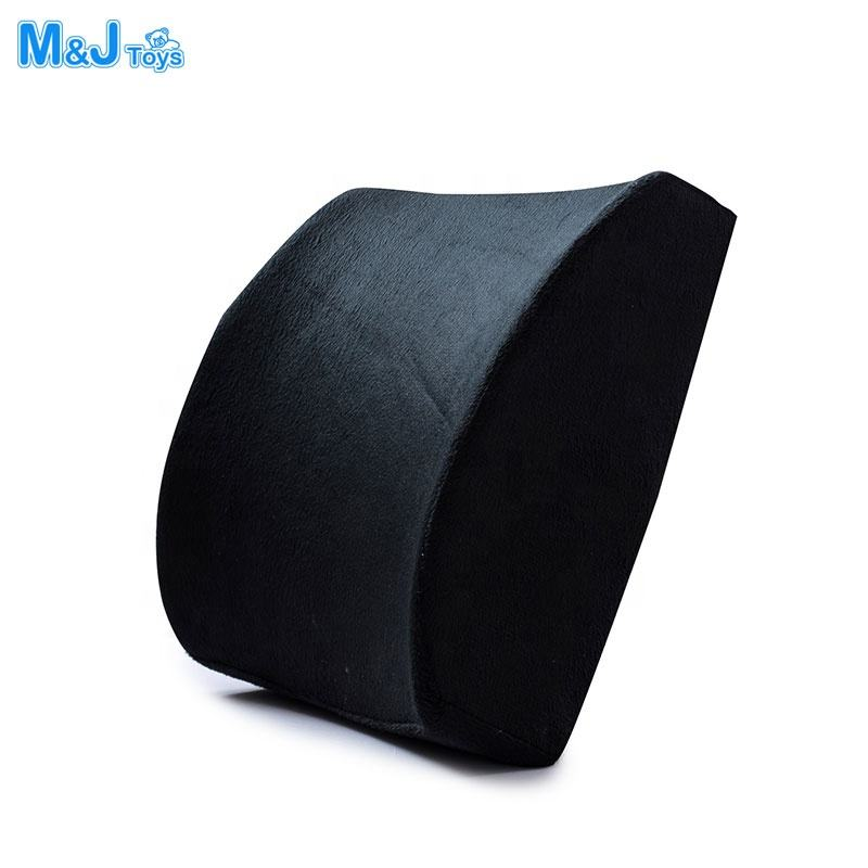 Multi Use Memory Foam Seat Lumbar Support Cushion With Adjustable Elastic Strap