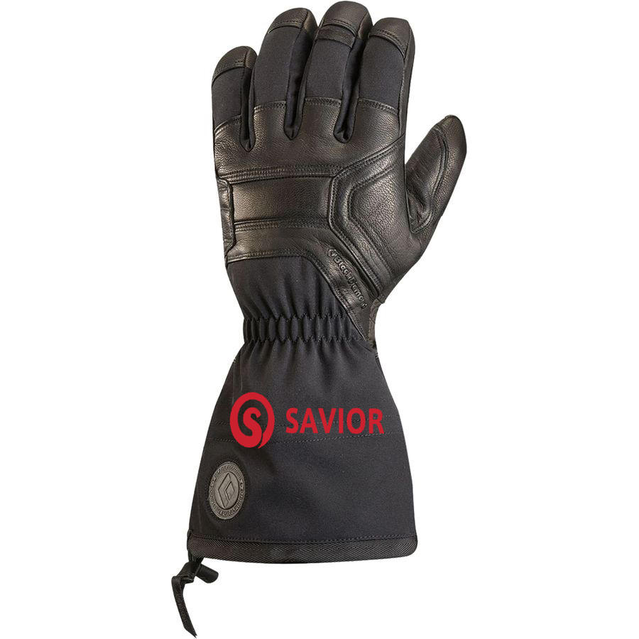 7.4v Full Leather Battery Heated Glove for Skiing,biking.Winter waterproof recharged heated gloves