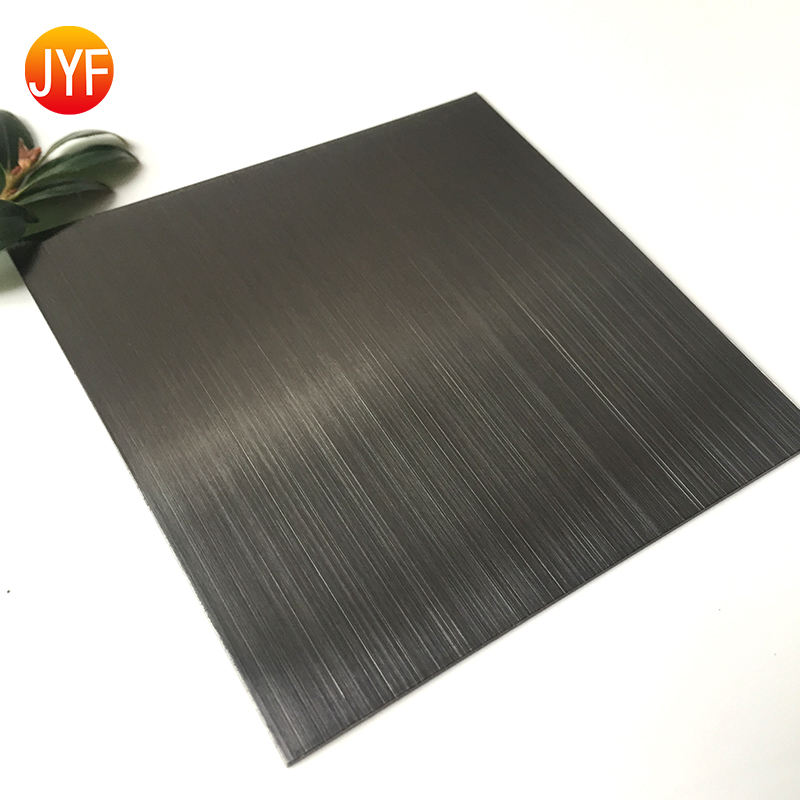 Jyfm11 201 304 HL black color stainless steel sheet 4*8