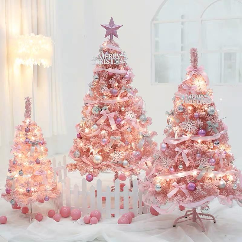 wholesale pink cone outdoor pvc gift lighted giant led mini artificial Christmas xmas decoration ornament tree