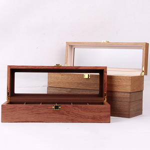 6 slots wooden grain MDF watch packaging box luxury watch boxes cases