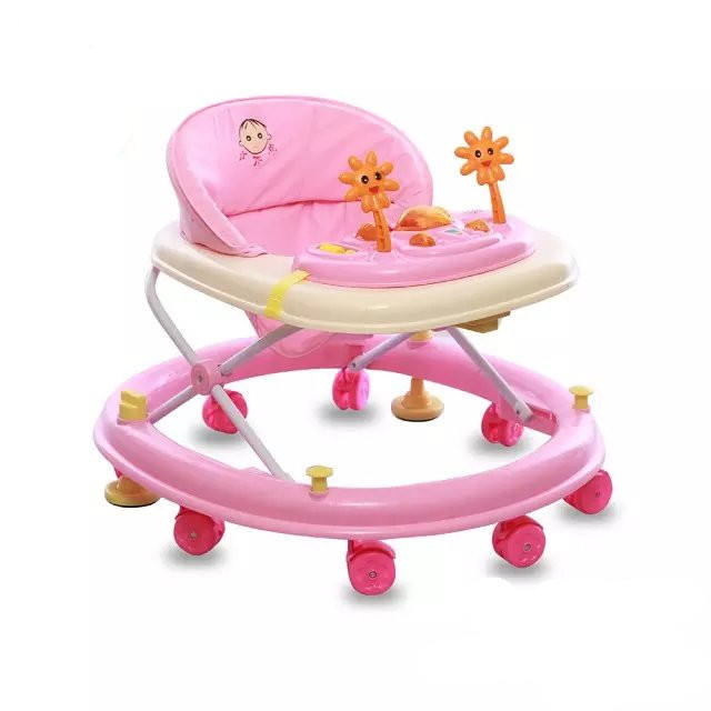 baby walker scooter New Model Baby Toys Walker 6 to18 Months Multifunctional Folding Baby Scooter With Music Light Rollator
