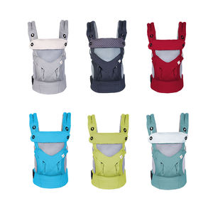 4-in-1 Convertible Canvas baby carrier ergonomic hip seat for men and maternity with mesh windows for ventilation.