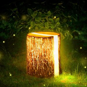 Wholesale chinese FRP outdoor landscape lighting christmas led artificial wooden tree stump garden decoration
