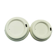 Biodegradable sugarcane bagasse lid 80mm 90mm cup lids coffee cup