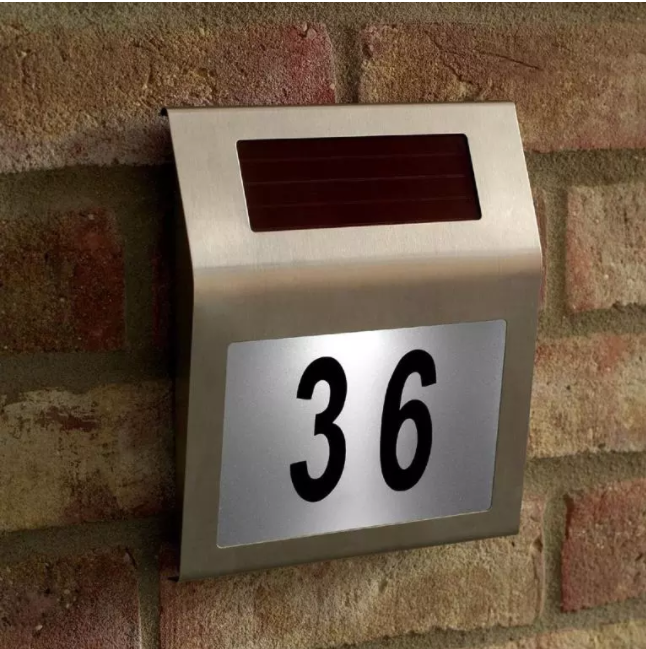 Solare doorplate numero/outdoor numero di casa