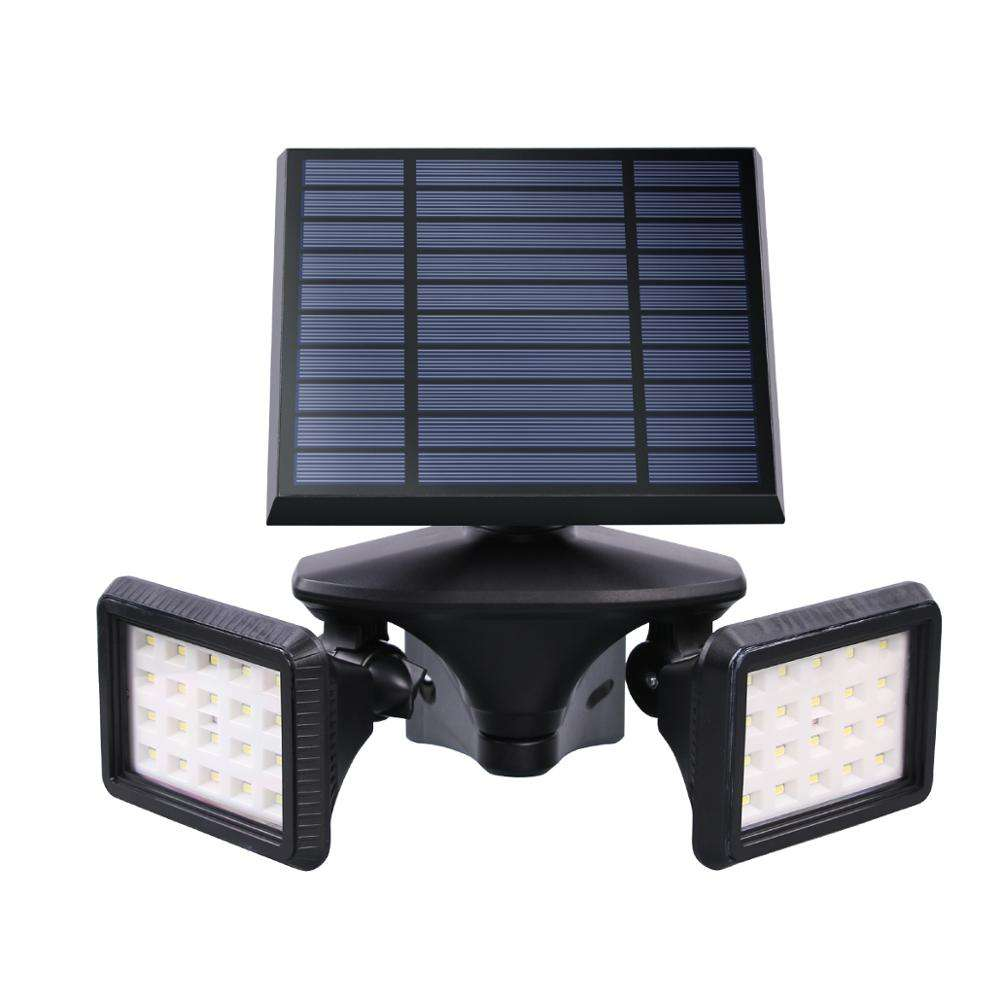 new product solar power energy saving dual heads led outdoor solar lights