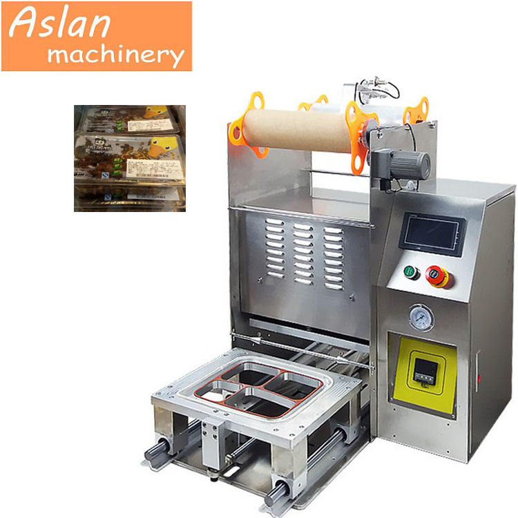 PP/PET/PE Tray/ Bowl/Box Sealing machine /plastic container food tray packer machine