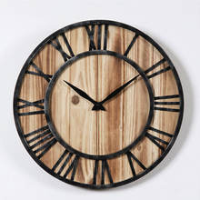 China Luxury Home Decor Circular Retro 3D Wooden Wall Clock