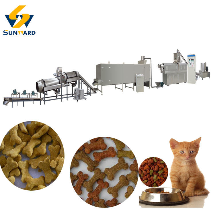 used pet food extruders / dog food processing line for sale