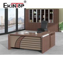 Ekintop home luxury modern black solid teak wood l-shaped partner hotel office writing desk
