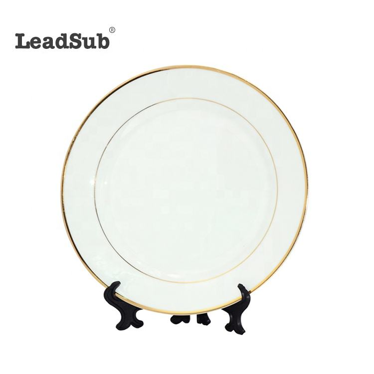 Glossy coated ceramic plate set sublimation round ceramic plates transfer printing ceramic plate made in china wholesale