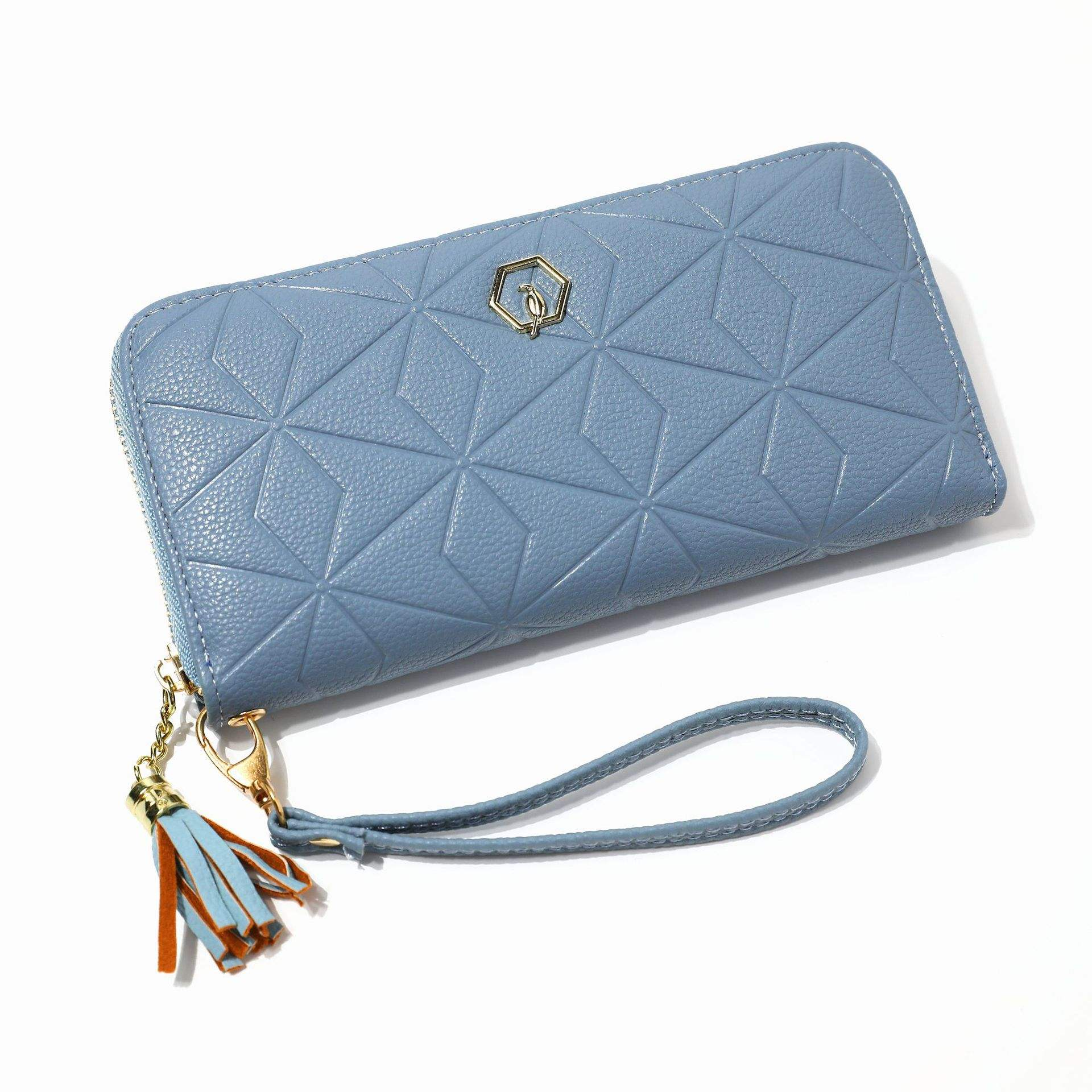 FD1039 Best Seller Wallet Bifold 2019 Long Designs Tassel Zipper Diamonds Shape Womens Wallets