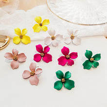 New Fashion Plant Resin Hyperbole Earring Acrylic Flower Creative  Earring For Women
