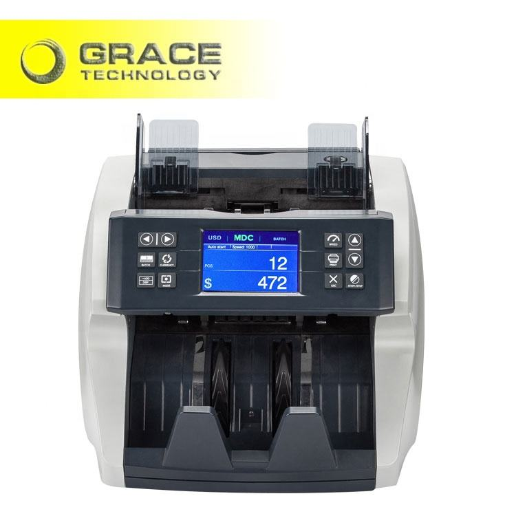USD, EUR, GBP, CAD, MXN money counting machine banknote money mix value bill counter