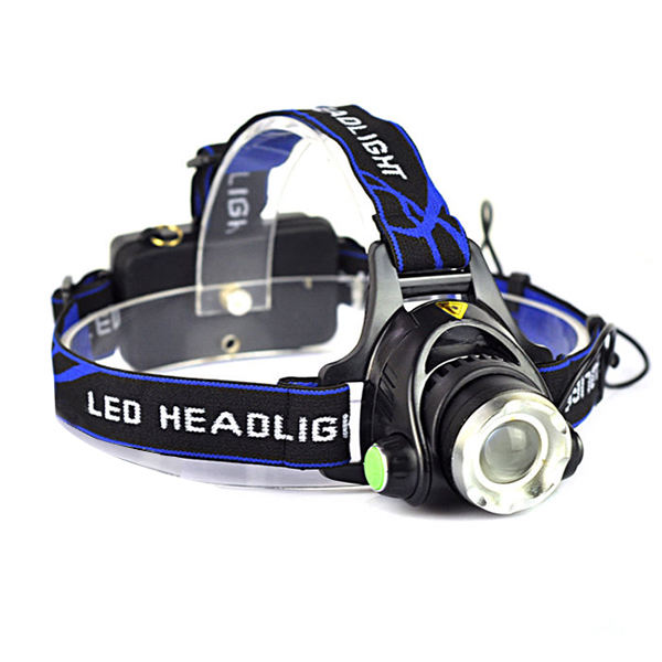 18650 Battery Zoom 10 Watt LED Rechargeable Aluminum Headlamp LED For Camping