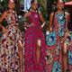 New Arrival African Women Prom Party Clothing Split Long Maxi Vintage Women Evening Gowns