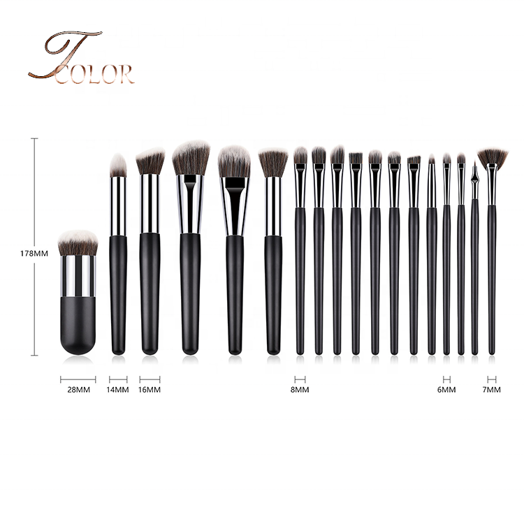 Top Sell Low MOQ Cosmetic Set 18 pcs Brand Your Own Makeup Brush