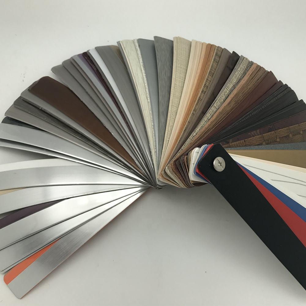 Furniture accessories customized flexible plastic strips trim trimmer pvc edge banding tape for mdf/chipboard